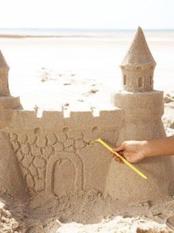 como hacer castillos de arena faciles