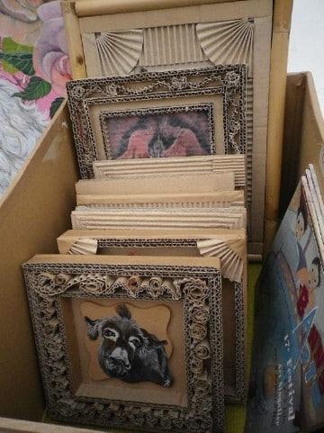 como hacer marcos para cuadros de carton originales
