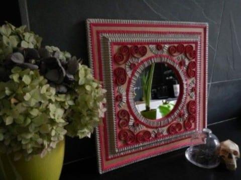 como hacer marcos para cuadros de carton pintados