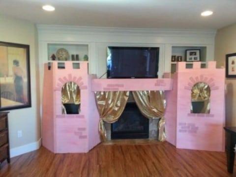 como hacer un castillo de carton grande para decorar