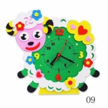 como hacer un reloj en foami para niños