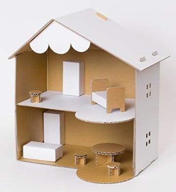 como hacer una casa de carton facil paso a paso