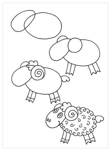 dibujos infantiles faciles de hacer a lapiz