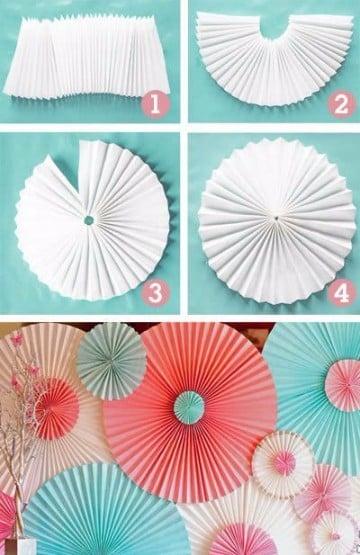 guirnaldas de flores de papel como hacer
