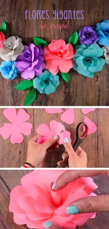 guirnaldas de flores de papel paso a paso