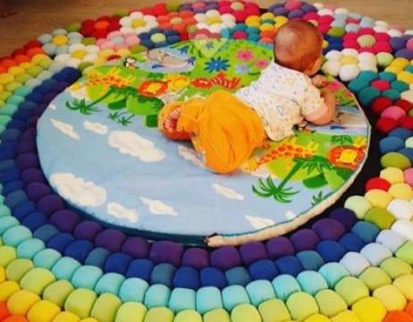 ideas con retazos de tela para bebes