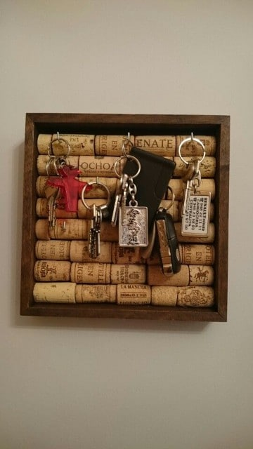 ideas para el hogar reciclando para llaves