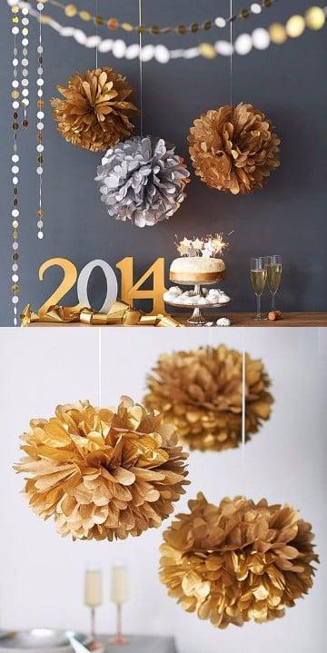 manualidades de adornos para año nuevo