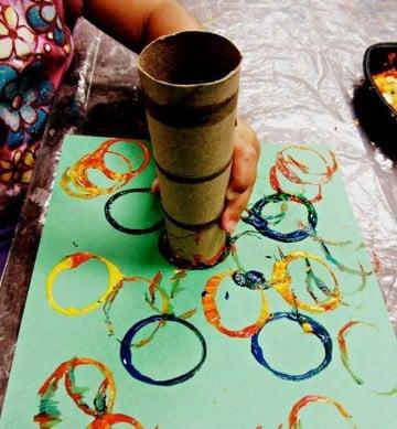 manualidades para niños de 1 a 2 años con colores