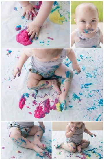 manualidades para niños de 1 a 2 años con pintura