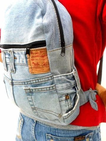 mochilas y bolsos de jeans artesanales