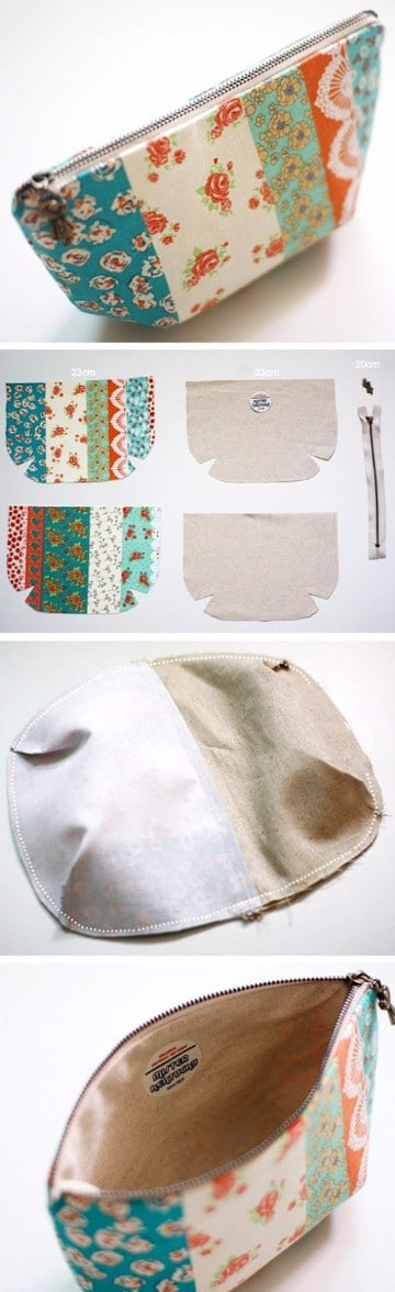 pequeños bolsos de tela hechos en casa