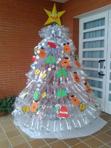 pinos de navidad reciclados transparentes