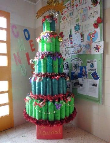 pinos de navidad reciclados y creativos