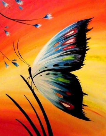 pinturas de mariposas al oleo para decorar