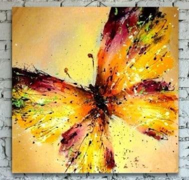 pinturas de mariposas al oleo paso a paso