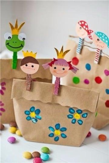 recuerdos por el dia del niño bolsitas de papel