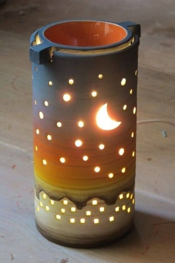 adornos de ceramica para sala lampara