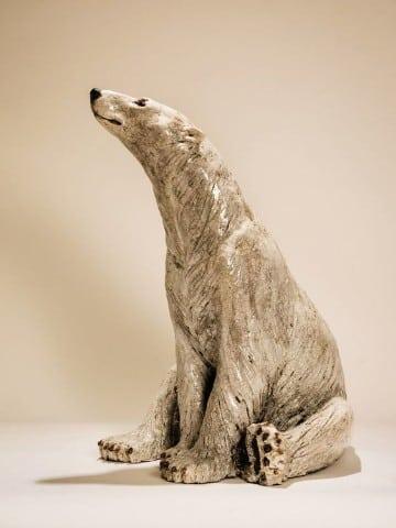 adornos de ceramica para sala oso polar