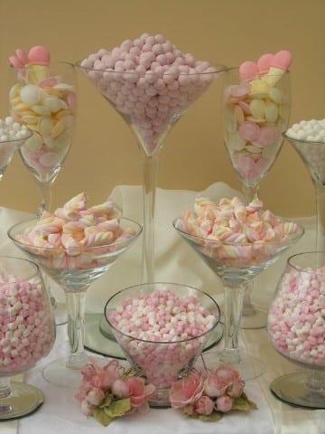 como hacer bases para mesa de dulces copas