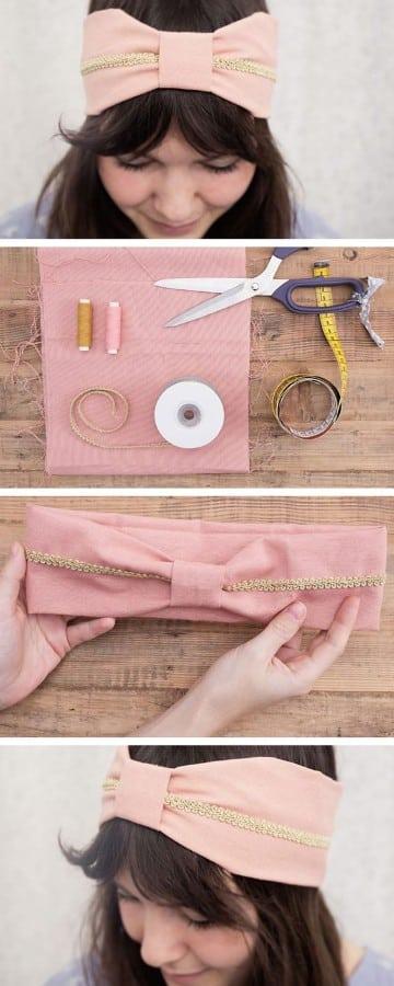 como hacer cintas para el pelo paso a paso