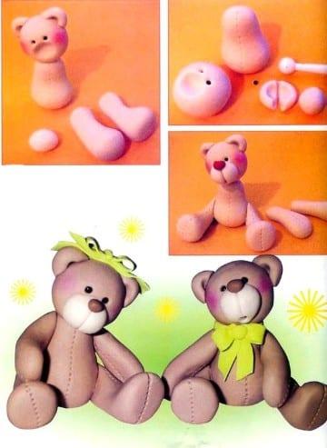 como hacer figuras de porcelana fria oso