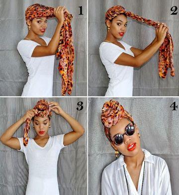 como hacer turbantes paso a paso africano