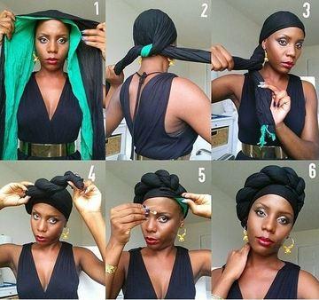 como hacer turbantes paso a paso trenzados