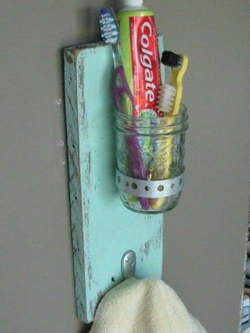 como hacer un porta cepillo de dientes rustico