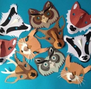 como hacer una mascara de cartulina de animalitos