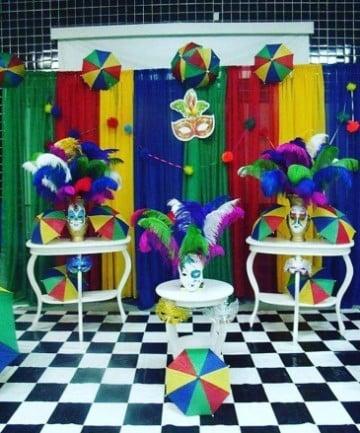 decoracion de carnaval para fiestas coloridas
