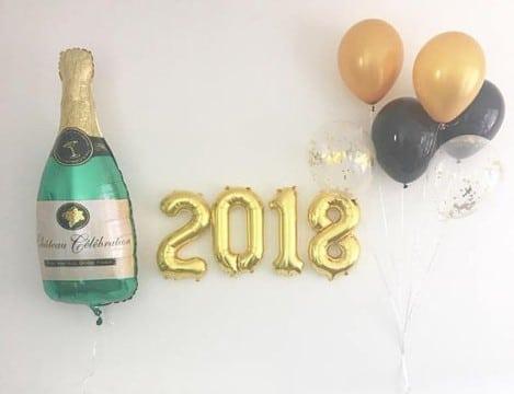 decoracion fiesta fin de año en casa para pared