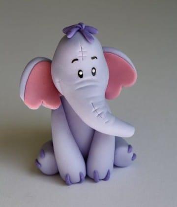figuras de porcelana fria faciles elefante