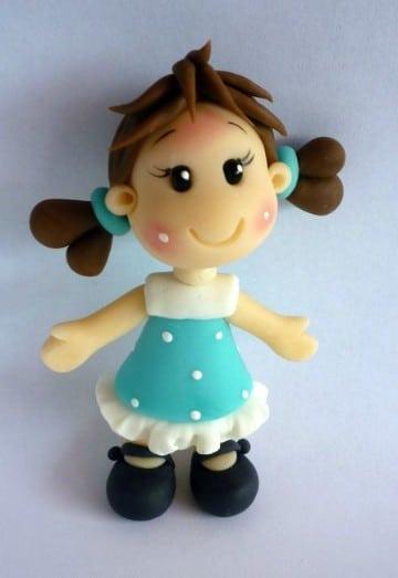figuras de porcelana fria faciles muñeca