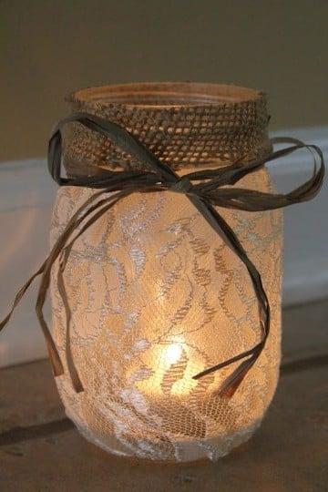 frascos de vidrio decorados vintage candelabro