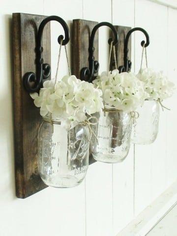 frascos de vidrio decorados vintage colgantes