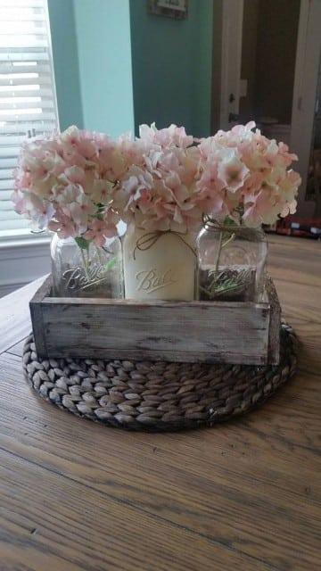 frascos de vidrio decorados vintage florero