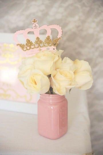 frascos decorados para 15 años corona