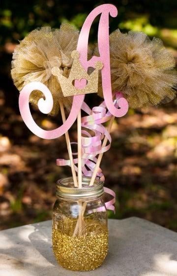 frascos decorados para 15 años dorado