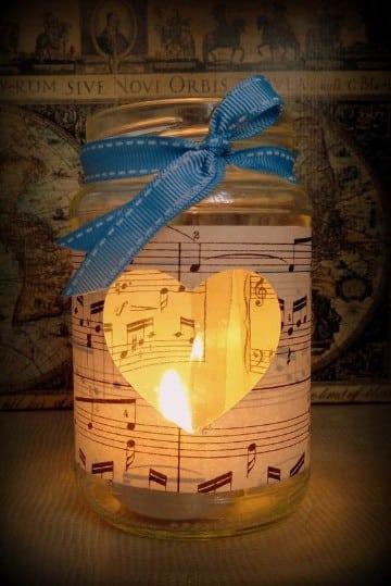 frascos decorados para bodas velas