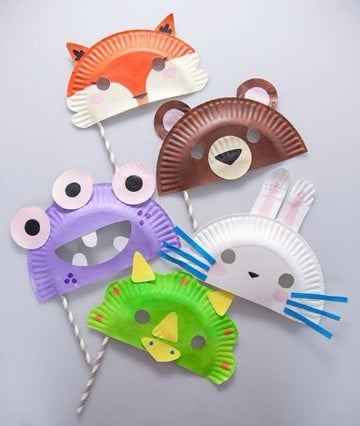 mascaras para niños de primaria creativos
