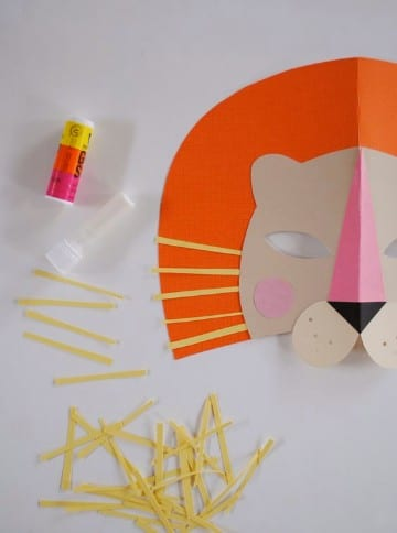 mascaras para niños de primaria de papel