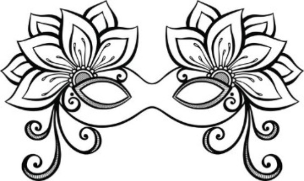 moldes de antifaces para imprimir con ornamentos