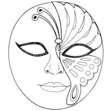 moldes de antifaces para imprimir medio rostro