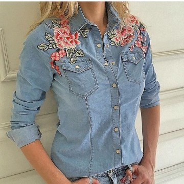 parches de flores para ropa con estilo