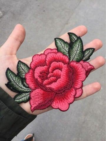 parches de flores para ropa grandes