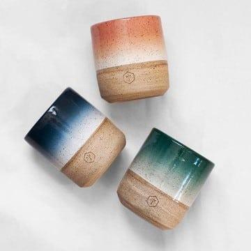 tazas pintadas a mano de porcelana personalizadas