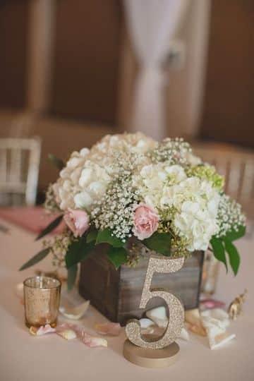 arreglos de mesa vintage de boda