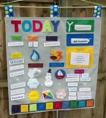 calendarios creativos para niños de tela