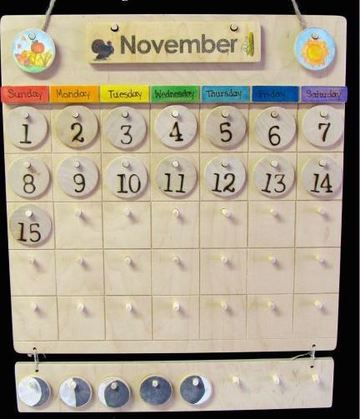calendarios creativos para niños en madera